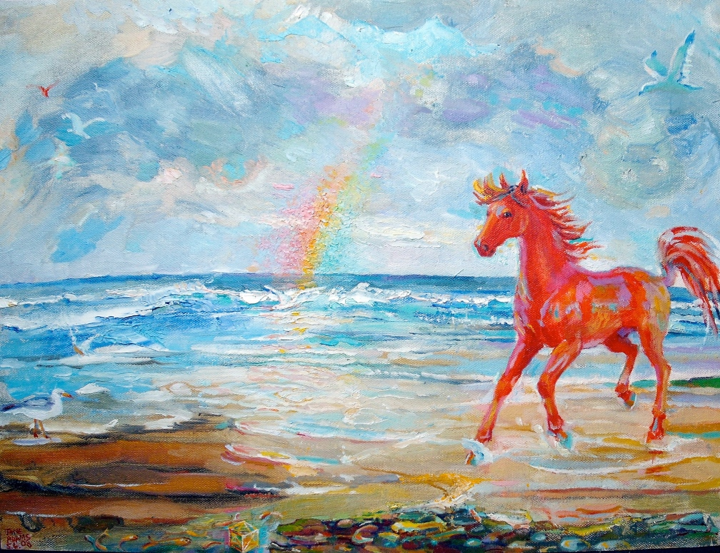 red horse and rainbow 2008