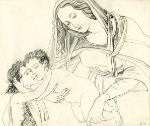 botticelli madonna & 2 brats