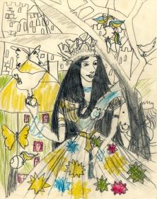 princess with dove 1956