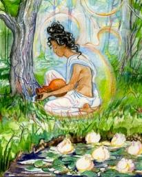 Sacred India Tarot lotuses parvati waters trees