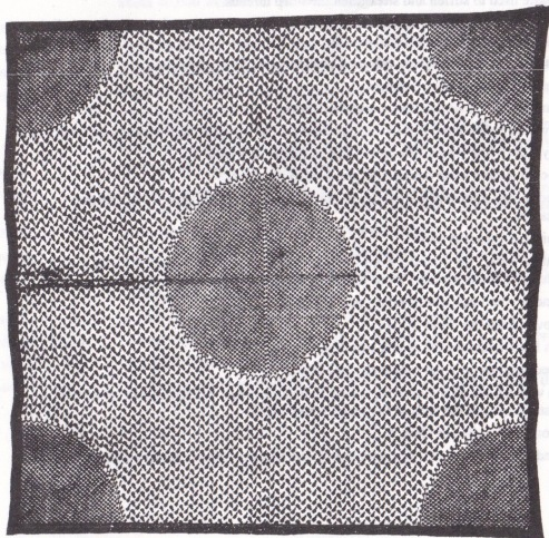MOON SHAWL. Chand-dar shawl, Kashmir c.1820. A finely woven shawl with the moon surrounded by hundreds of little birds