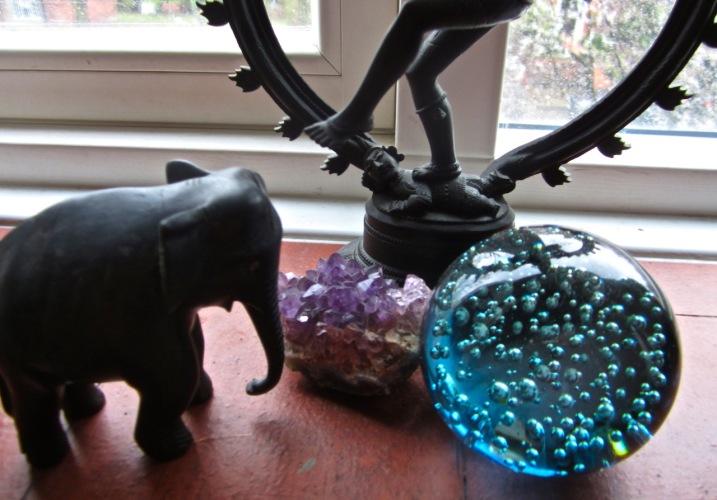 ebony elephant & siva